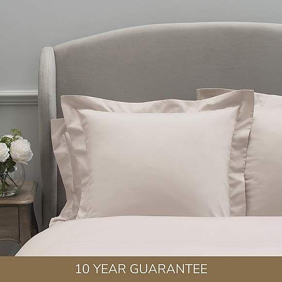 Dorma 300 Thread Count 100 Cotton Sateen Plain Blush Continental Square Pillowcase Square Pillowcase Pillow Cases London Bedroom