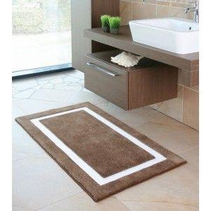 Badteppich auf Maß Linea 2. Ob uni oder zweifarbig gestaltet. Dieser Teppich ist ein Hingucker.