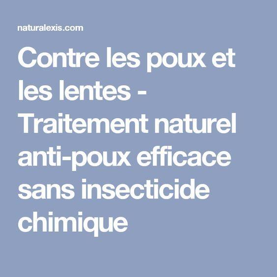 Contre les poux et les lentes - Traitement naturel anti-poux efficace sans insecticide chimique