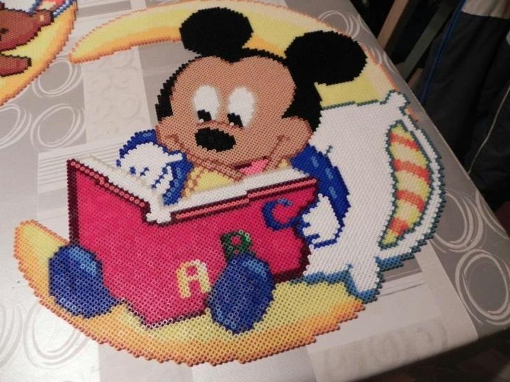 Baby Mickey Mouse hama perler beads by  hardy8676