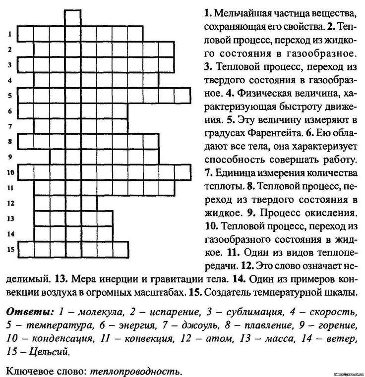 Гдз По Физике 7 Класс Громов Кроссворд
