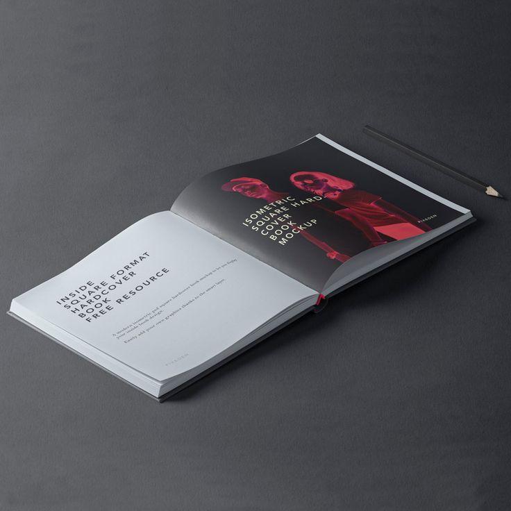 Mockup Libro Tapa Dura Cuadrado PSD