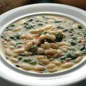 Receta de Alubias blancas con jamón y espinacas - Karlos Arguiñano