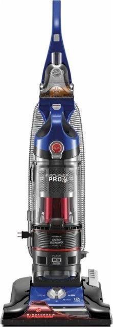 Hoover - WindTunnel 3 Pro Bagless Pet Upright Vacuum - Cobalt Blue - Front_Zoom