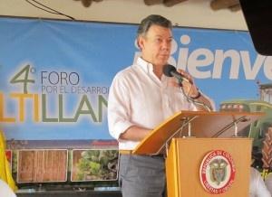 La importancia del acuerdo de cooperación técnica y científica para el desarrollo sostenible y competitivo de la Orinoquia colombiana firmado entre el MADR, la Corporación Colombiana de Investigación Agropecuaria  (CORPOICA) y el Centro Internacional de Agricultura Tropical (CIAT) fue ratificada por el Presidente de la República durante su intervención en el IV Foro de la Altillanura colombiana, realizado en Puerto Gaitán, Meta, los días 2 y 3 de diciembre de 2011.