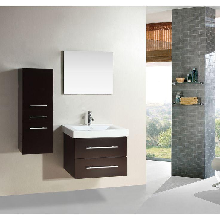 Kokols Wall-mount Floating Bathroom Vanity Set | Overstock.com Shopping - Great Deals on Kokols Bath Vanities