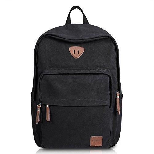 Ibagbar Vintage Canvas Backpack Rucksack Laptop Bag Computer Daypack Travel College Book