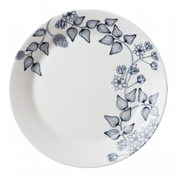 Runo lautanen 26 cm, Talvitähti        Valmistaja: Arabia      Design: Heini Riitahuhta