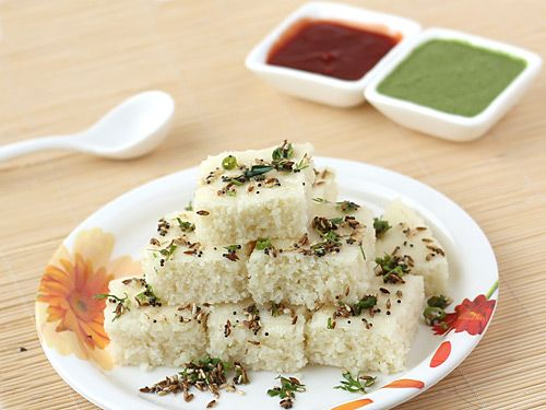 Making soft and spongy instant dhokla with sooji is an art and people often fail at it. However, with this rava dhokla recipe's step by step photos, you can be sure of making your best ever homemade white instant dhokla.