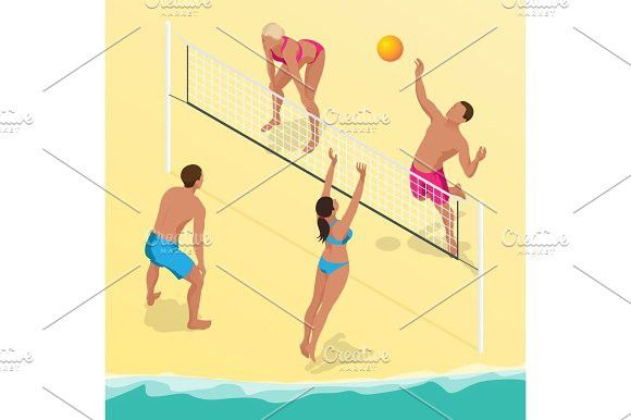 Beach Volleyball Silhouette Vector Download Free Silhouette Vector Silhouette Volleyball Silhouette