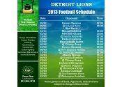5x5 in One Team Detroit Lions Football Schedule