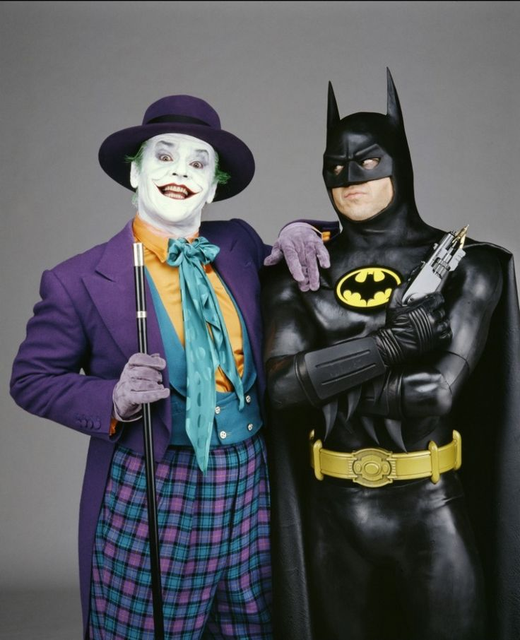 Batman and the Joker (Michael Keaton and Jack Nicholson)