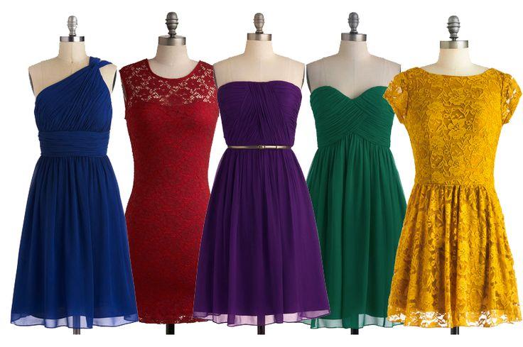 jewel tone bridesmaid dresses - Google Search