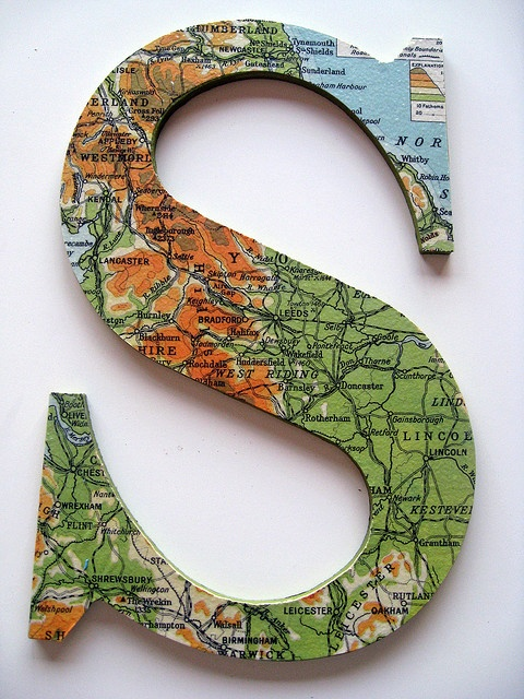 "THE LETTER ""S""~map letter"