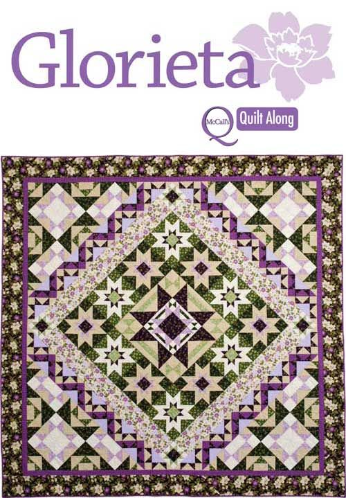 """GLORIETA Our new Quilt Along video series features this beautiful 100"""" x 100"""" medallion quilt using lovely prints from Benartex. All videos are FREE for a limited time. Sew along with us and make this incredible quilt...kits are available! Sponsored by Benartex: http://www.benartex.com/ #glorietaquiltalong"""