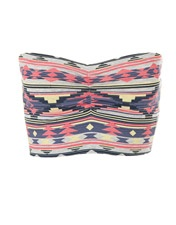 Soul Cal Deluxe Aztec Bandeau Top, Outfit 1. Perfect to wear under the Soul cal deluxe pocket top.