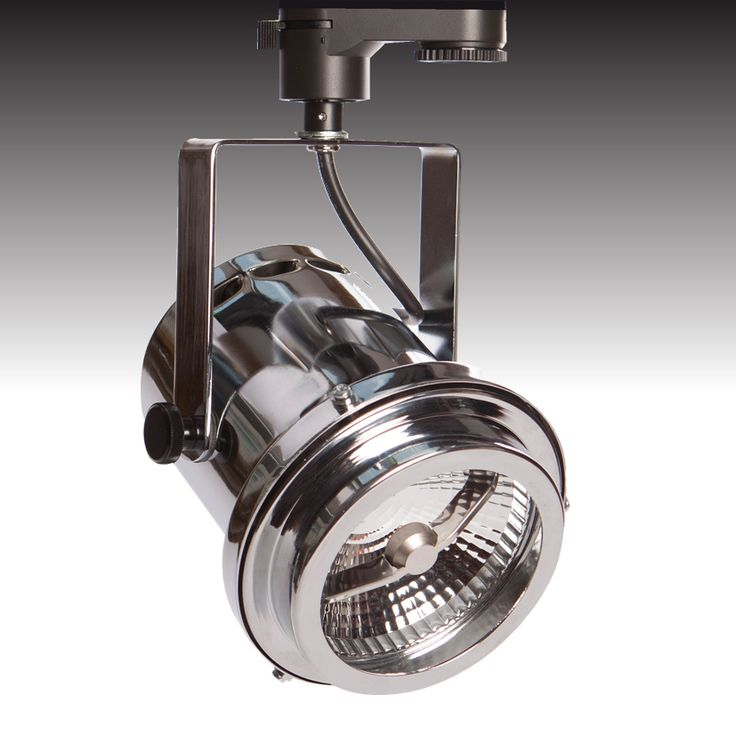 The Tri-PIN-LED trackspot available in 'polished chrome' - from Photec Lighting #led #spotlight #lighting