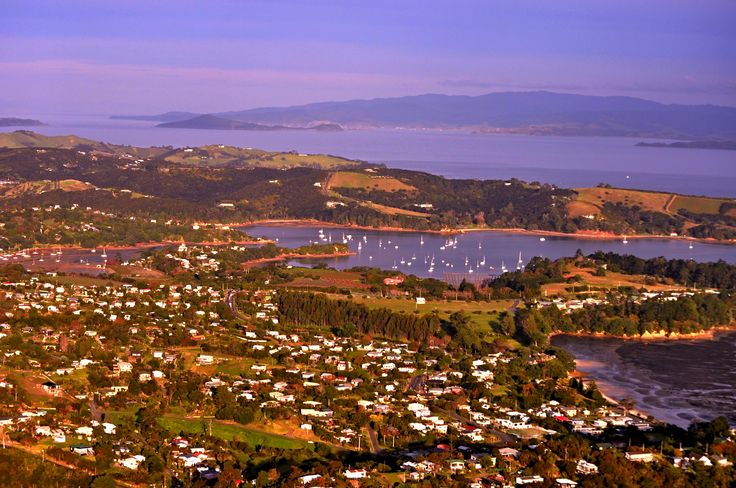 Looking down on Waiheke Island - Hauraki Gulf - Auckland New Zealand