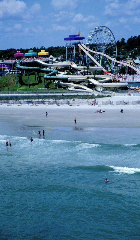 Slide into the best family beach vacation you'll ever have - Myrtle Beach, SC - affordable and fun for everyone!