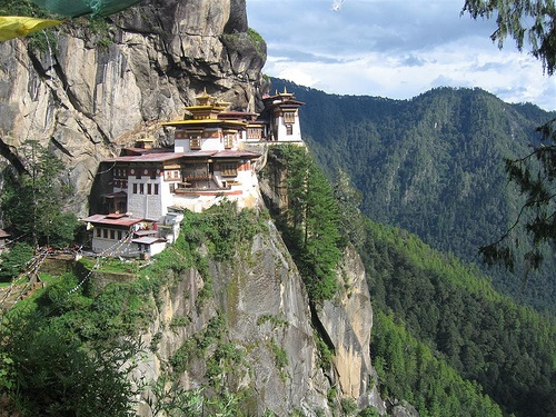 On a cliff in Bhutan
