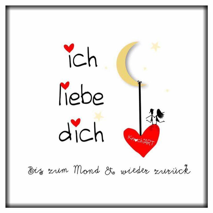 Ich liebe dich. .Bis zum Mond und wieder zurück. . | Liebe ...