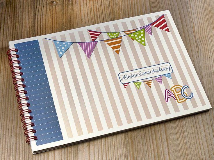 Gästebücher - Gästebuch  DIN A5 zur Einschulung - ein Designerstück von feinepapeterie bei DaWanda