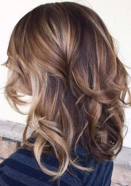 Caramel & Blonde Hair Color Ideas for Winter 2016 - 2017 with Reddish Tones of Brown