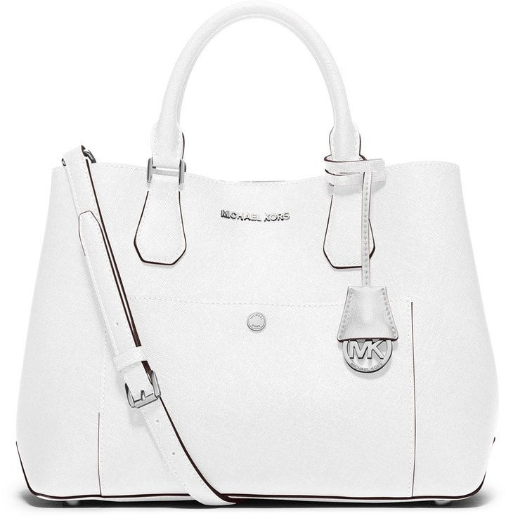 MICHAEL Michael Kors Greenwich Large Leather Tote Bag ...