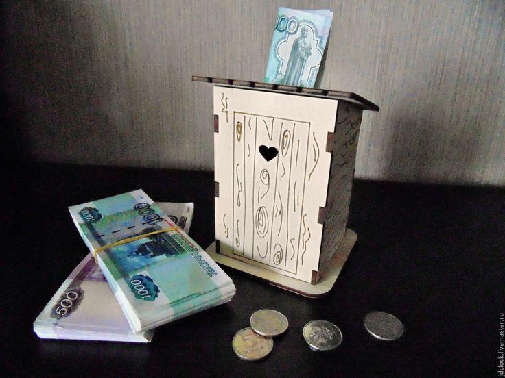 """Купить Копилка """"Туалет"""" - комбинированный, копилка, туалет, из фанеры, необычный подарок, купить копилку, деньги"""