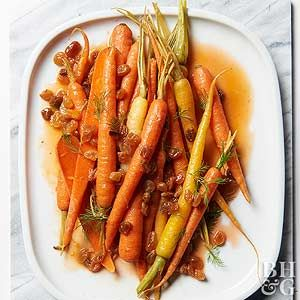 Orange juice, raisins, and cinnamon lend unexpected sweetness and warmth to this delicious vegetable side dish recipe.