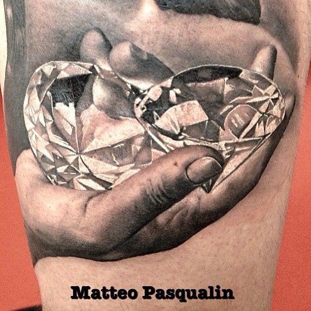 "diamonds gems hand tattoo @uktta's photo: ""By @Matteo Olivieri Pasqualini #uktta #tattoos"""
