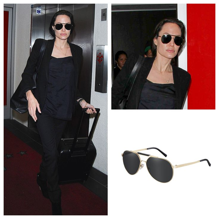 versace sunglasses 30jc  Angelina Jolie spotted in Los Angeles wearing a pair of brand new aviator #Versace  sunglasses