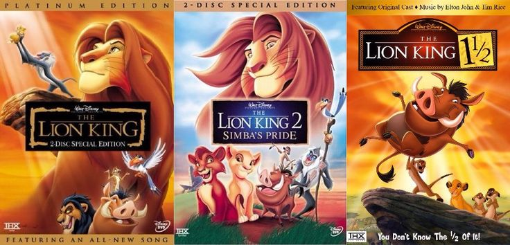 This 3 movie set is ready for you! Get all 3 movies from the classic movie trilogy The Lion King! Get The Lion King, The Lion King 2: Simba's Pride, and The Lion King 1 1/2 all in this one great set.