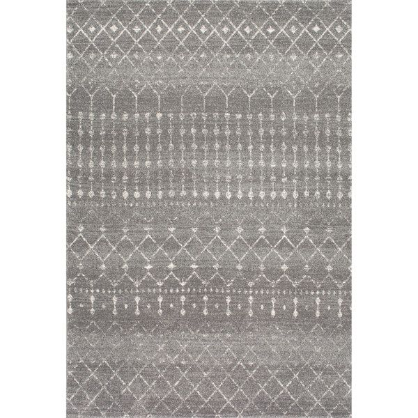 nuLOOM Geometric Moroccan Beads Dark Grey Rug (8' x 10' $269)