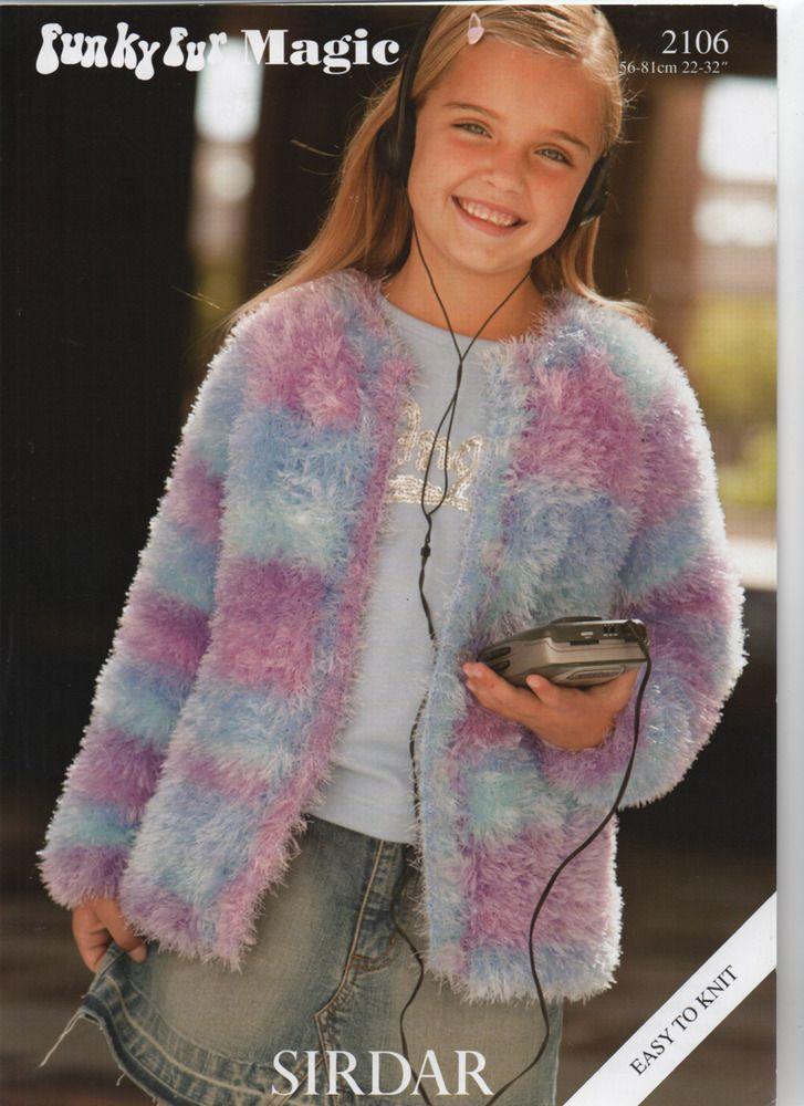 "Snowflake Chunky Magic knitting pattern Girls jumper Size 22//32/"""