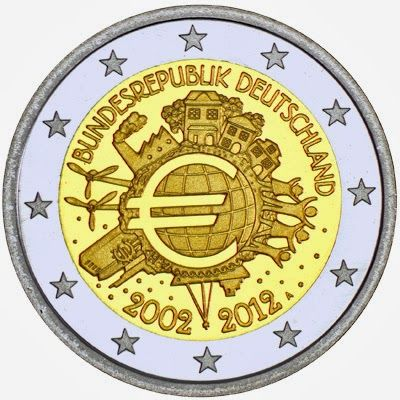 2 Euro Commemorative Coins Germany 2012, Ten years of Euro cash