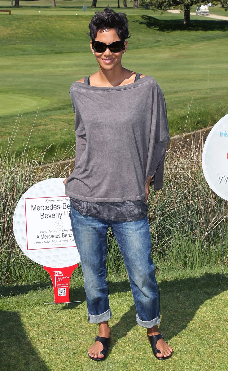 I'm obsessed with boyfriend jeans (7pairs)... And the casual chick look of Halle Berry ... Obsessssssed!!