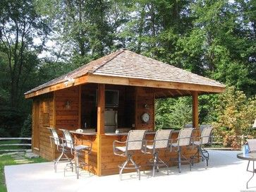 13 best images about back yard on pinterest bar areas for Pool shed with bar plans