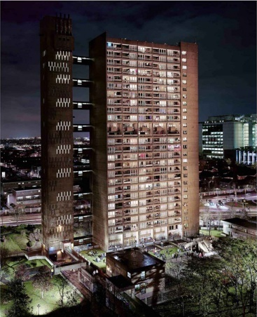 Simon TERRILL (b. Australia 1969)  'Balfron Tower' 2010–11  chromogenic print  184.8 x 150.2 cm  Monash Gallery of Art, City of Monash Collection  acquired 2011  MGA 2011.068  reproduction courtesy of the artist and Sutton Gallery, Melbourne [click through to read a curator's statement on the work]