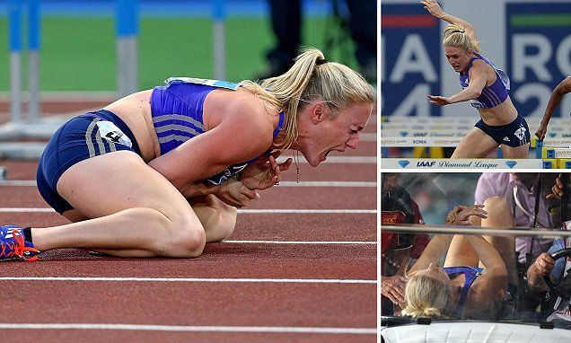 Aussie hurdles champ Sally Pearson to have surgery after horror fall #DailyMail