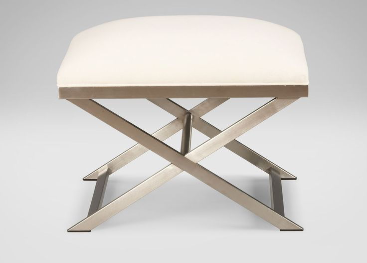"25""w x 20""h x 19""d    $600     http://www.ethanallen.com/en_US/shop-furniture-living-room-ottomans-benches/xanadu-bench/207219.html"