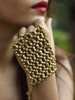 Ornate hand glove
