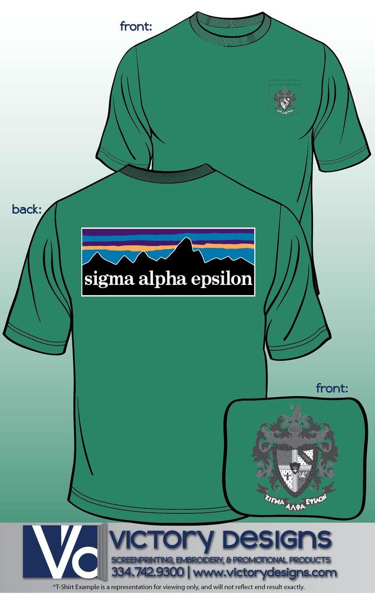 Patagonia Crest T-Shirt #sae #fraternity #patagonia