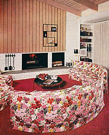 BH 1961 - Curved Pink Floral Sofa | Flickr - Photo Sharing!