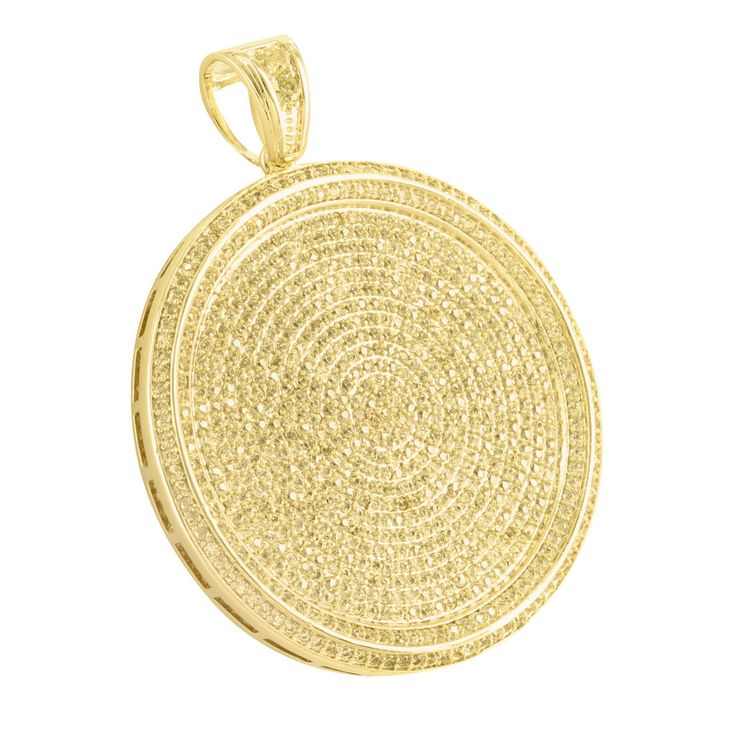19 best iced out lab diamond hiphopbling pendants on sale images yellow lab diamond 14k gold finish round medallion pendant mozeypictures Gallery