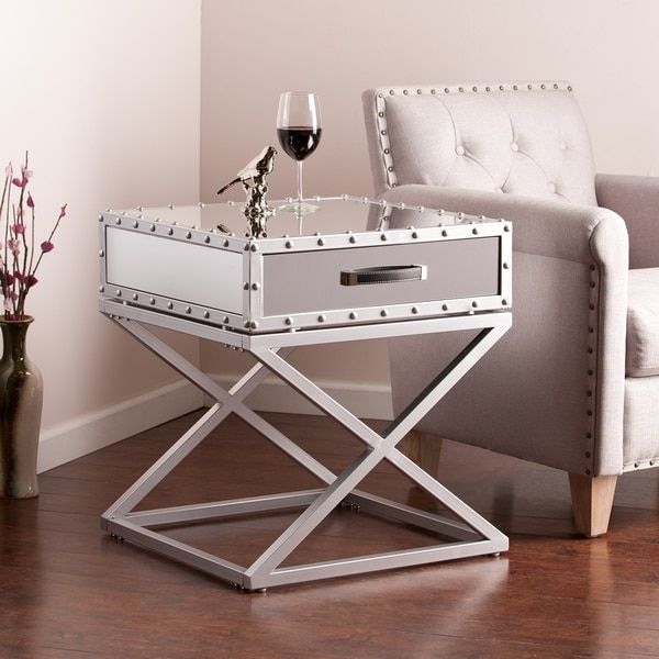 Harper Blvd Carollton Glam Mirrored Accent Table | Overstock.com Shopping - The Best Deals on Coffee, Sofa & End Tables