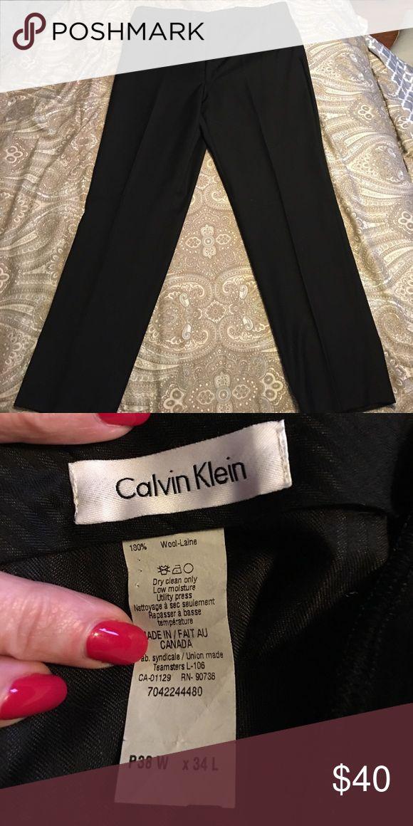 Calvin Klein Suit Pants Calvin Klein Suit Pants in classic black.. excellent condition... size 38/34 Calvin Klein Pants Dress