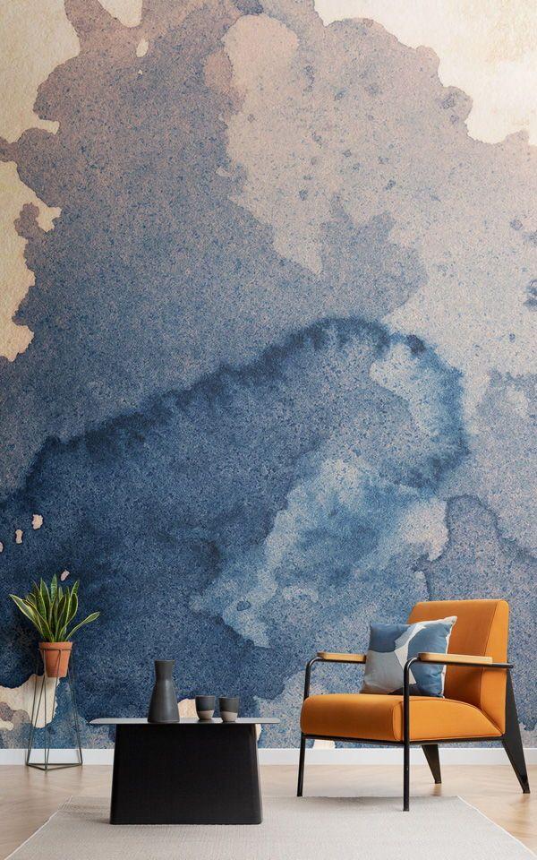 Watercolour Ink Blot Wallpaper Mural Murals Wallpaper Papel Pintado Para Paredes Papel Tapiz De Acuarela Murales Pared