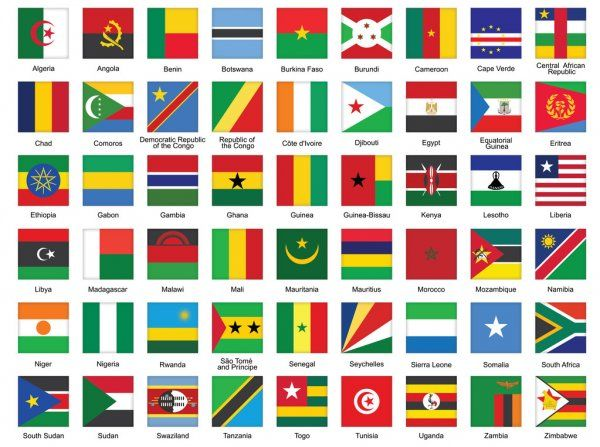 Square Icons With African Flags Stock Illustration In 2020 African Flag World Country Flags African Countries