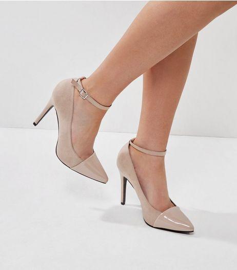 Brand New!! New Look Women's high hill Gold shoes size 8 (EU 41)